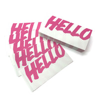 200 FADEBOMB Big Hello Double sided sticker