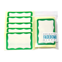 50 FADEBOMB BORDER Name Badge Label
