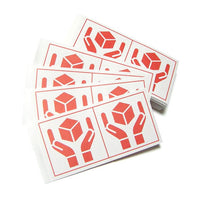 200 Japan Handle with care sign label -RED-