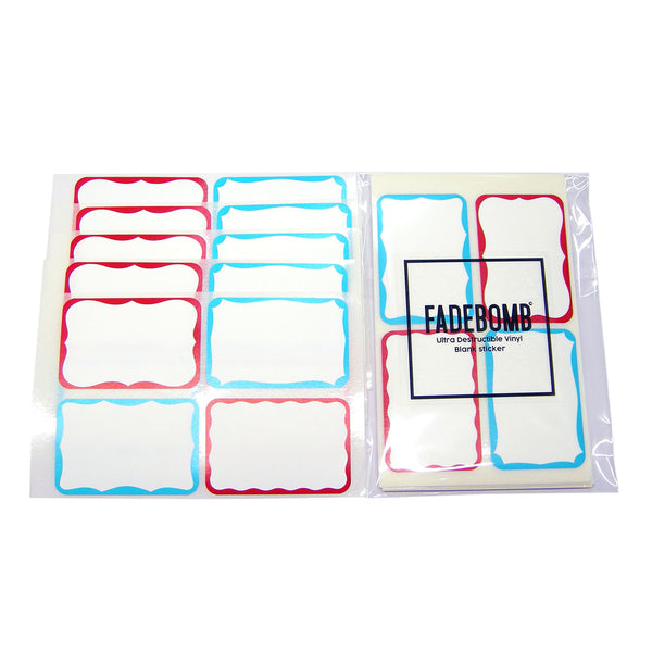 120 FADEBOMB Small 4 Border Eggshell Sticker