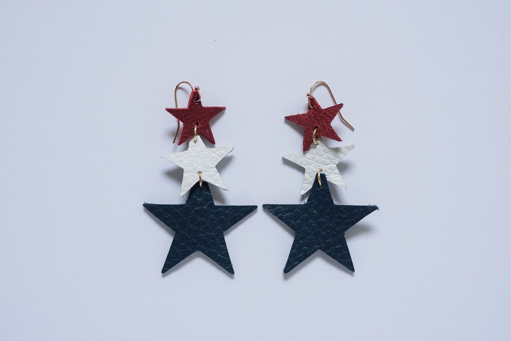 Tiered Stars in Red, White & Blue