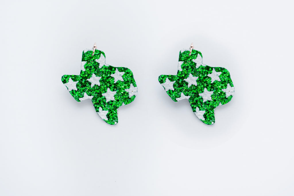 Southlake Carroll Dragon Glittery Texas Earrings