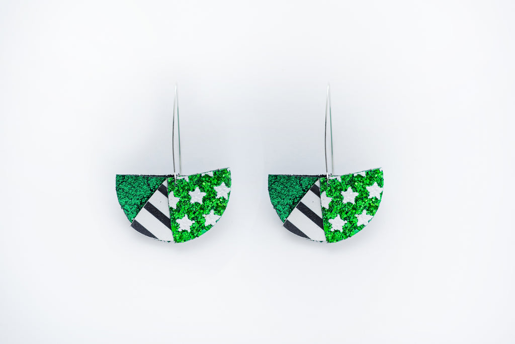 Southlake Carroll Dragon Tri Flare Ear Wire Earrings