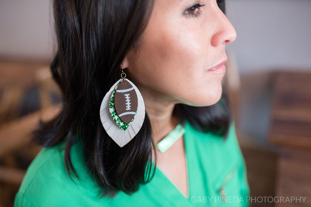 Southlake Carroll Dragons Football Sparkle in Triple Layer Fringe