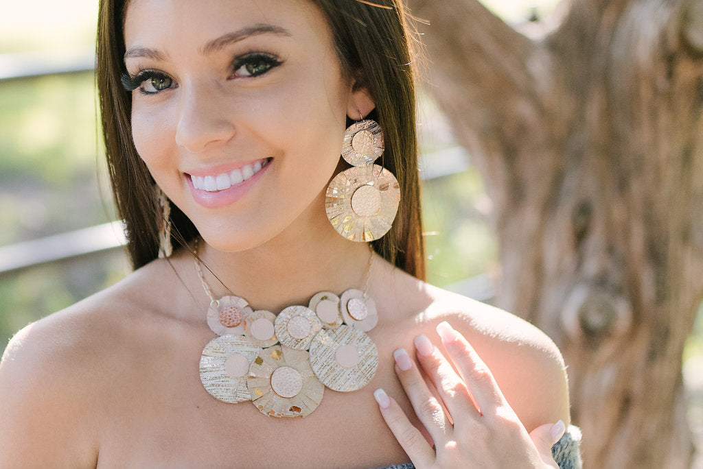 Rosegold Best in Show Statement Necklace