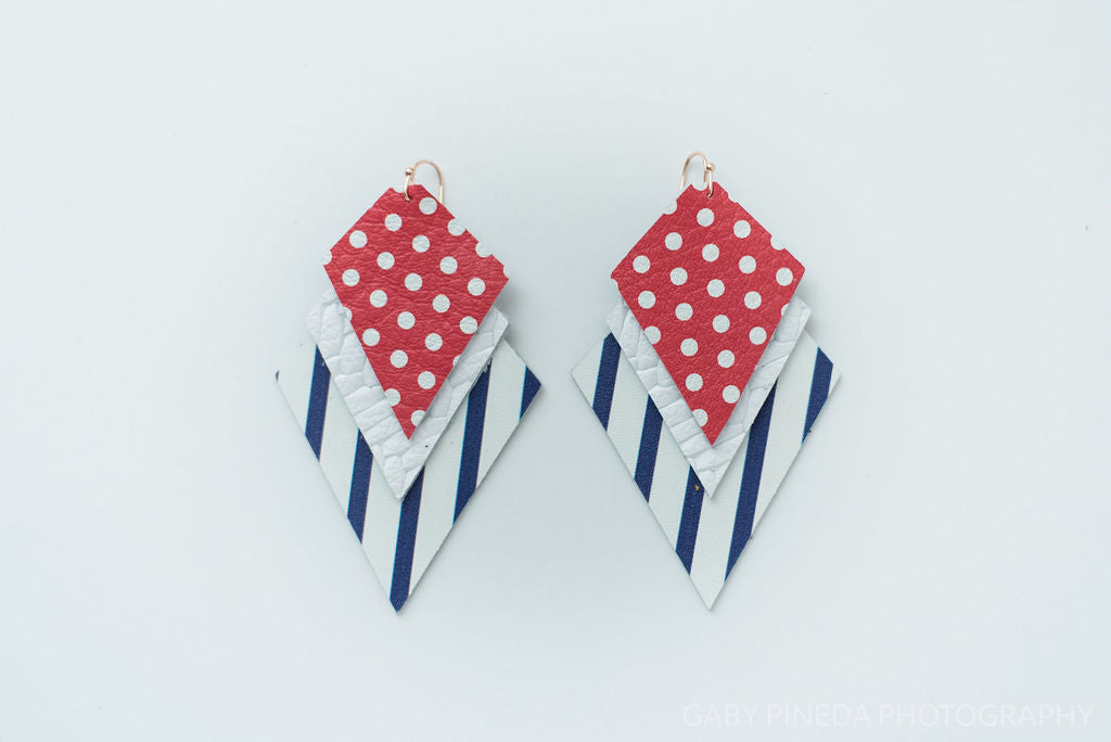 Grapevine Mustangs Stars Game Day Spirit Earrings