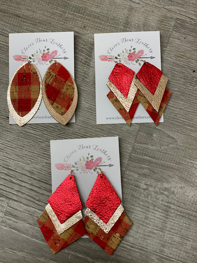 Holiday Red Gingham Cork Collection