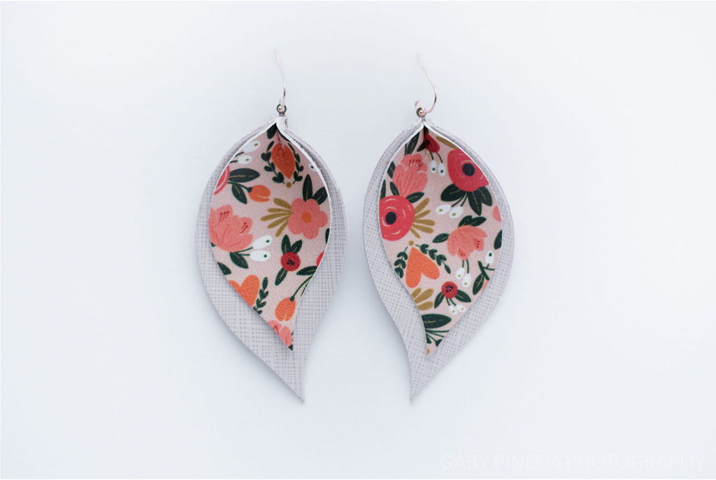 Pink Floral and Bright White Double Layer Leaves