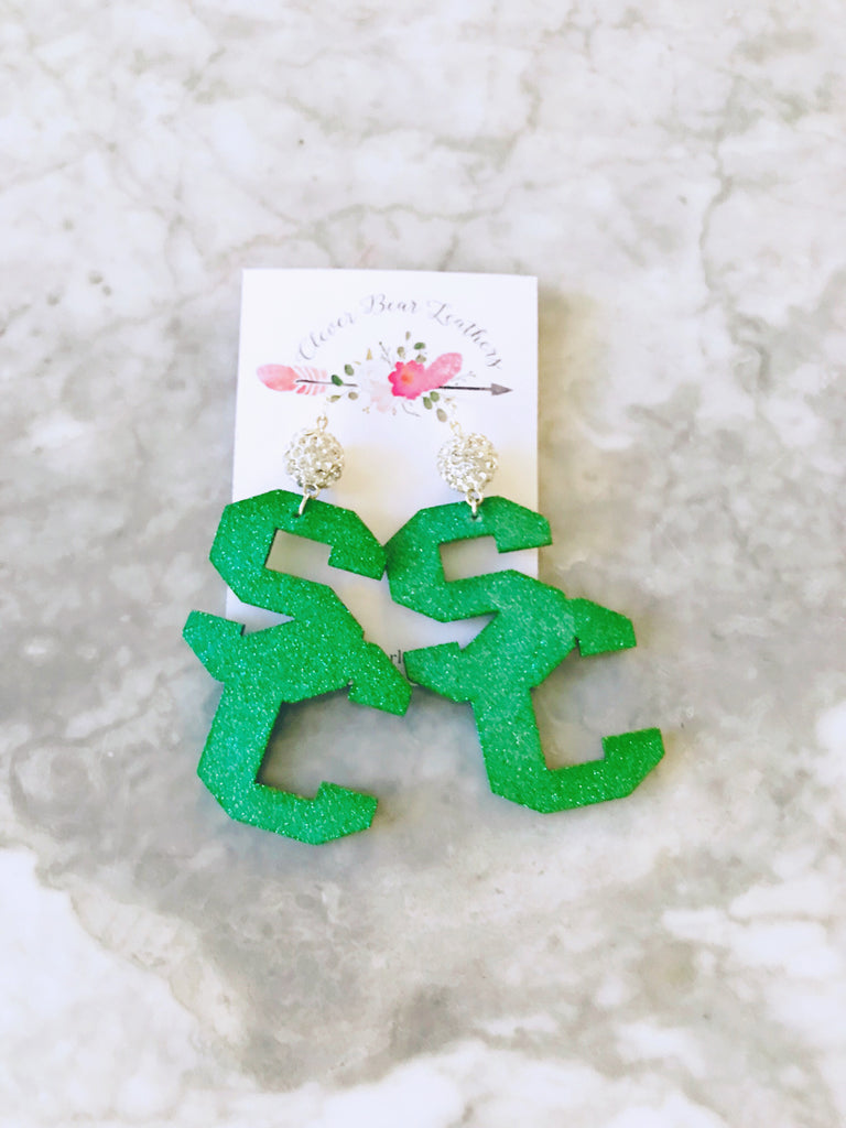 Southlake Carroll Dragons SC Earrings