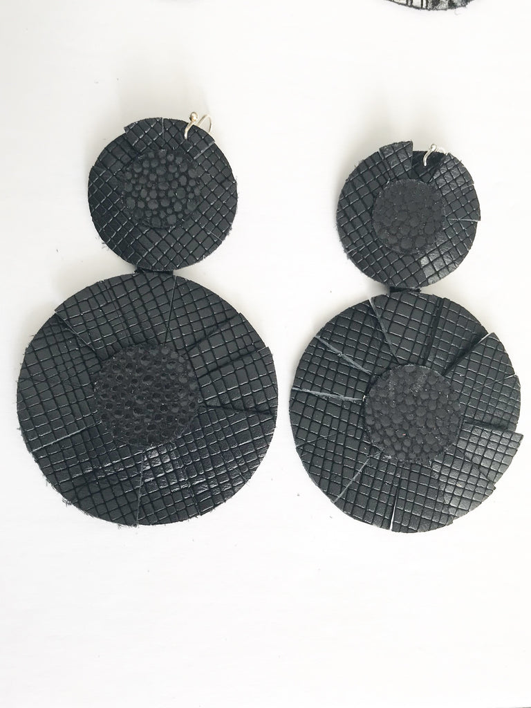 Black Scratch Best in Show Earrings