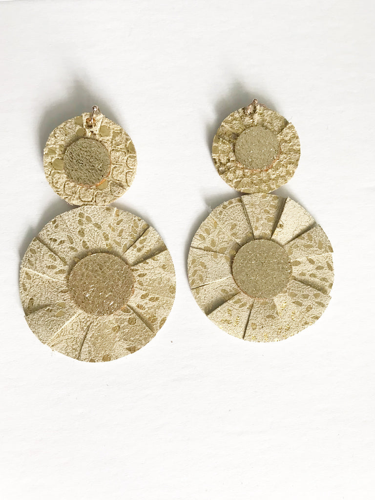 Gold Paisley Best in Show Earrings