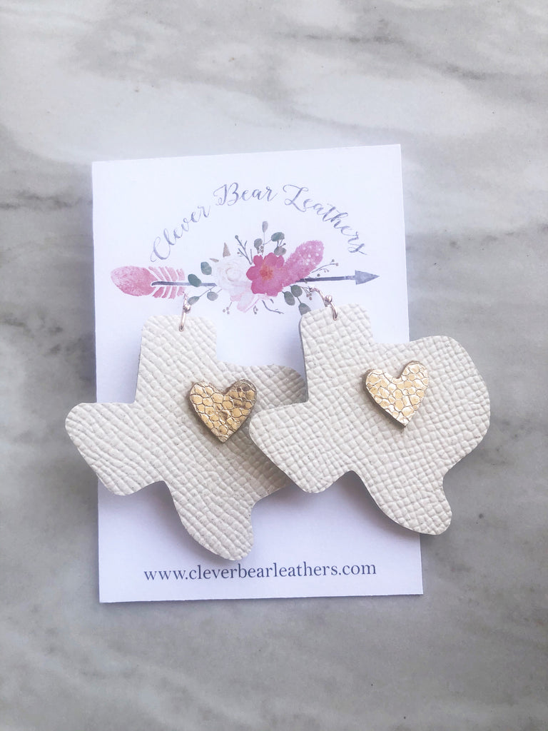 Heart of Texas Shape Earrings
