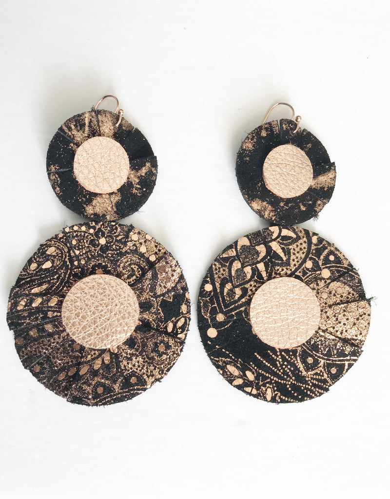 Rose Gold Paisley Best in Show Earrings
