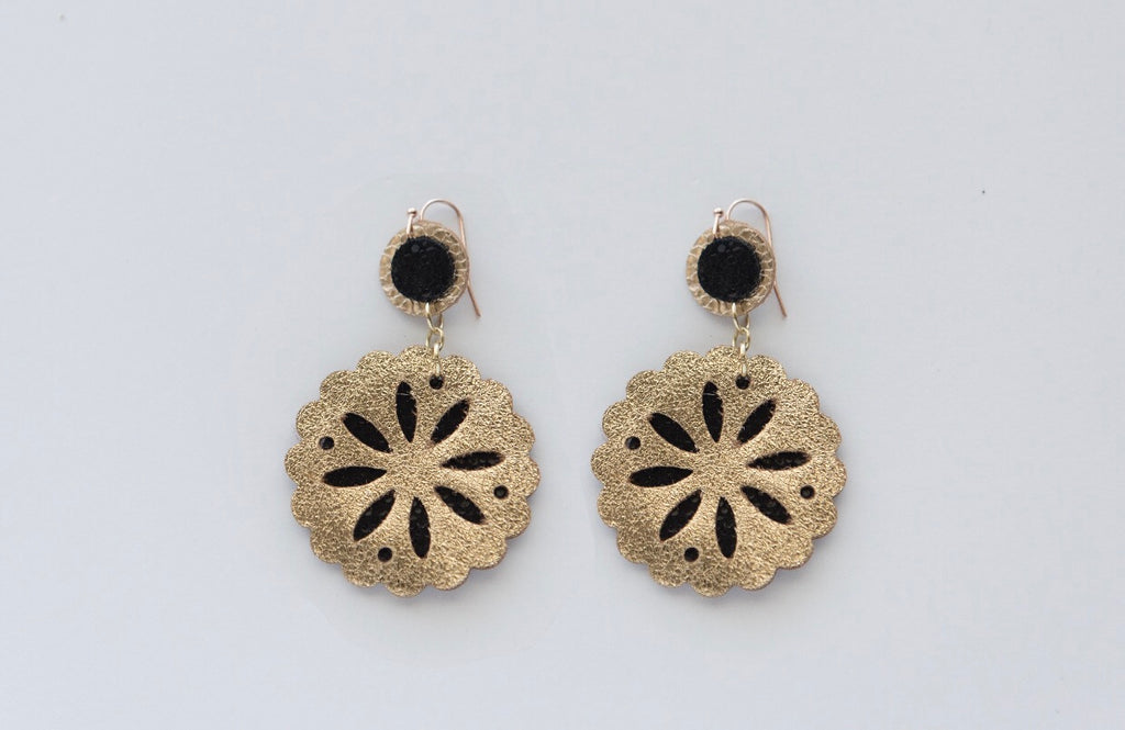Sand Dollar Drops in Black