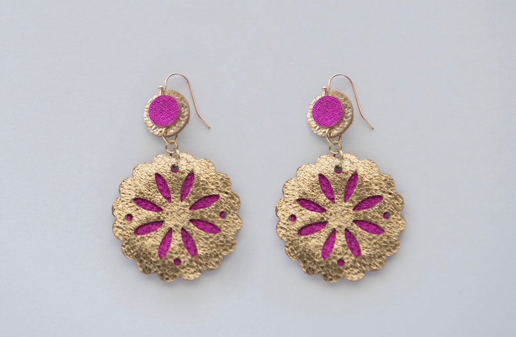 Sand Dollar Drops in Hot Pink