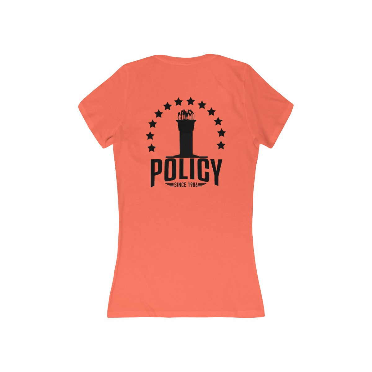 """SideWayz II The Movie"" Policy Deep V-Neck (Coral)"