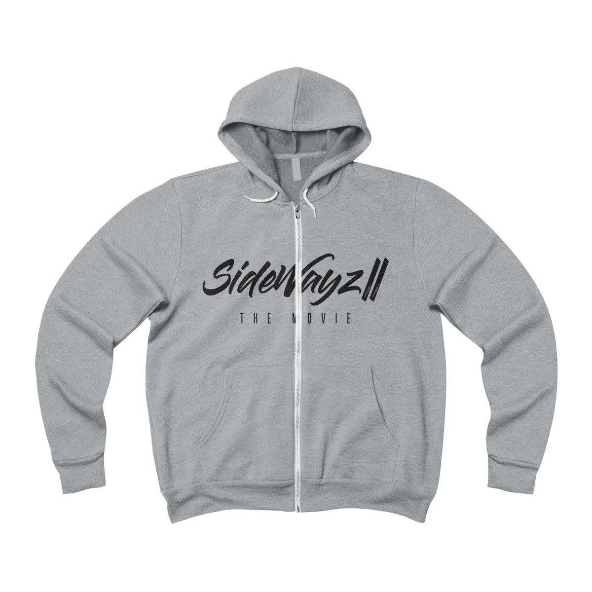 """SideWayz II The Movie"" Full-Zip Policy Hoodie (Light Heather)"