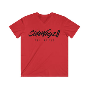 """SideWayz II The Movie"" Policy Fitted V-Neck (Red)"