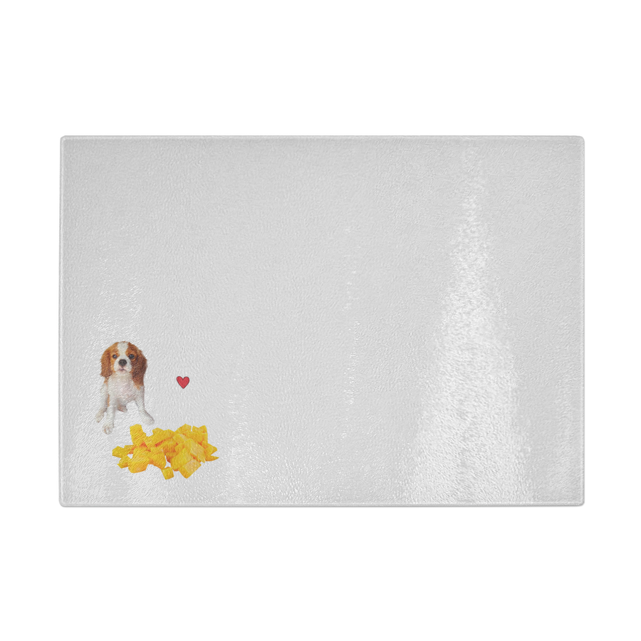 Cavalier Love 2 Cutting Board Glass