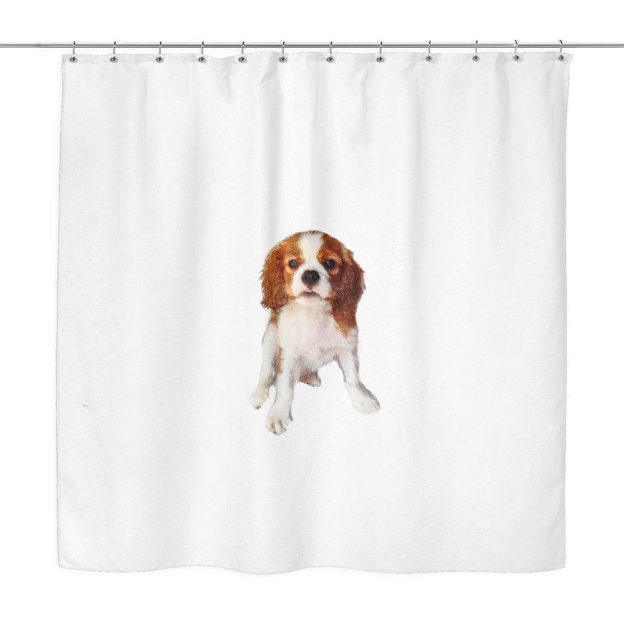 Cavalier White Shower Curtain