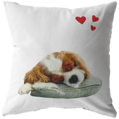 Cavalier Brown-White Pillow