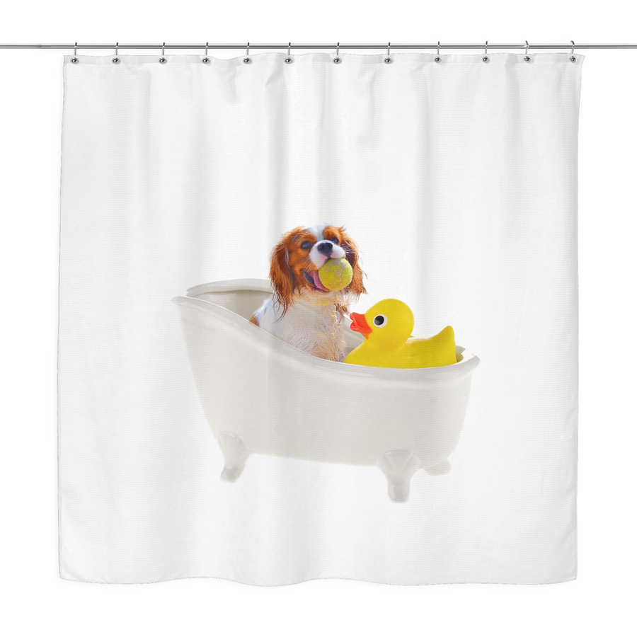 Bath Time Cavalier Shower Curtain