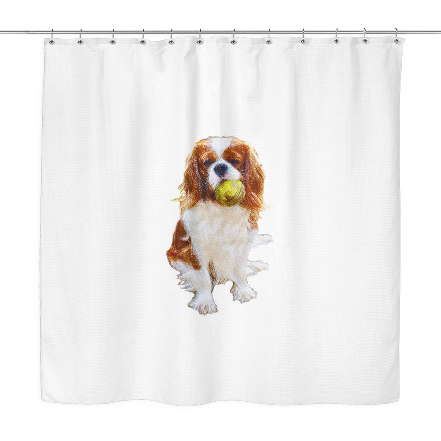 Playful Cavalier Shower Curtain