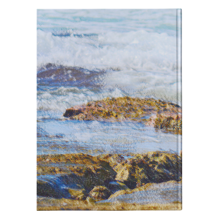 Cavalier Love Beach Hardcover Notebook