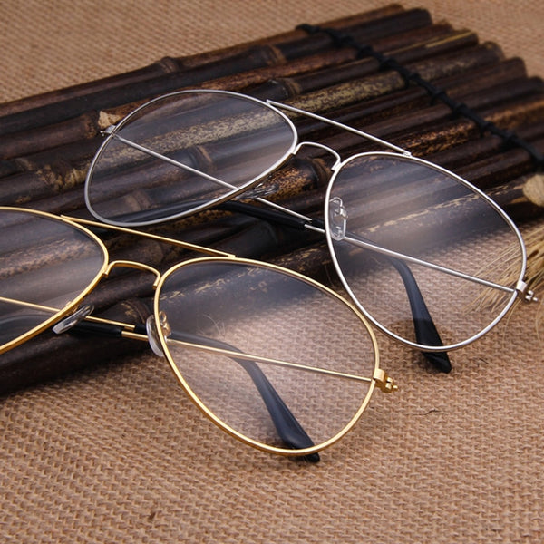 0b47b01c974 Clear Glasses Retro Eyeglasses Metal Gold Myopia Eyewear Women Men  Spectacle Frames Optical Glasses Frame Transparent ...