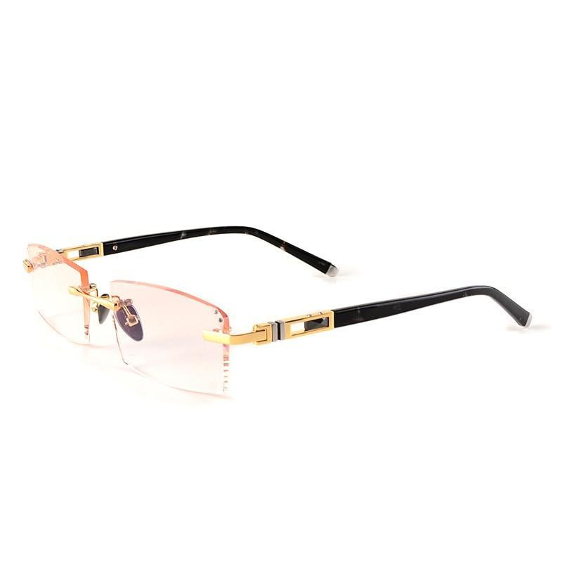 frameless eyeglass frames gold eyeglass frames for men rimless spectacle frames designs Luxury Diamond Cutting Lenses myopia-novahe