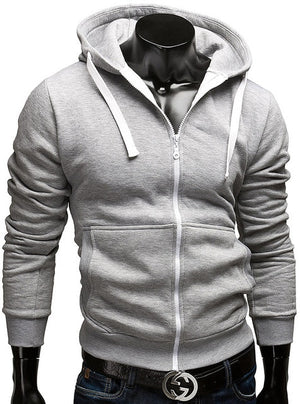 Fashion Brand Hoodies Men Casual Sportswear Man Hoody Zipper Long-sleeved Sweatshirt Men Five Colors Slim Fit Men Hoodie-novahe