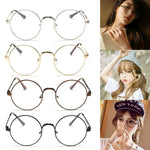 Chic Eyeglasses Retro Big Round Metal Frame Clear Lens Glasses Nerd Spectacles Black, Silver, Gold, Copper-novahe
