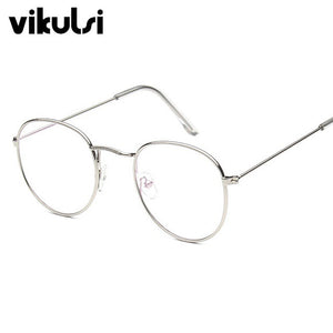 Round Aviator Clear Glasses Myopia Clear Lens Glasses With Transparent Glasses Women Men Metal Ray Optical Glass Lunette femme-novahe