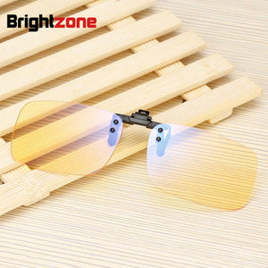 2017 New Clear & Yellow Anti-blue Rays Computer Radiation Protection Blue Light Filter Gaming Eye Comfort Glasses Clip-on Frame-novahe