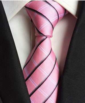 GUSLESON Classic 100% Silk Mens Ties New Design Neck Ties 8cm Plaid&Striped Ties for Men Formal Business Wedding Party Gravatas-novahe