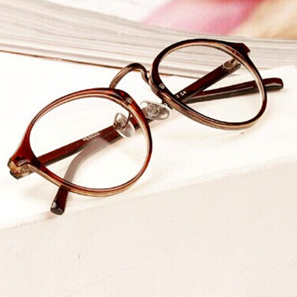 Mens Womens Nerd Glasses Clear Lens Eyewear Unisex Retro Eyeglasses Spectacles s72-novahe