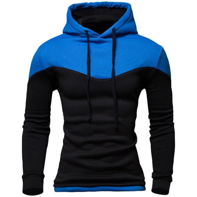 New Hoodies Men 2016 Winter Male Sweatshirt Teenage Casual Cardigan Hoody Jacket Autumn Coat Slim Patchwork Color-novahe