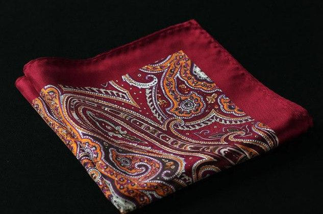 7a491ba8a6b5d RA Dot Paisley Floral Stripe Anchor Handkerchief 100% Natural Silk Satin  Mens Hanky Fashion Classic