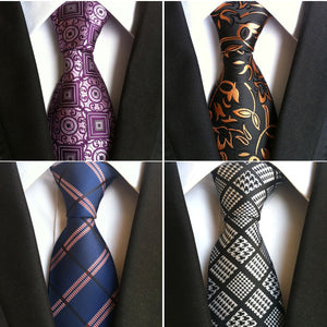 JEMYGINS Fashion Silk Mens Ties New Design Neck Ties 8cm Plaid&Striped Ties for Men Formal Wear Business Wedding Party Gravatas-novahe