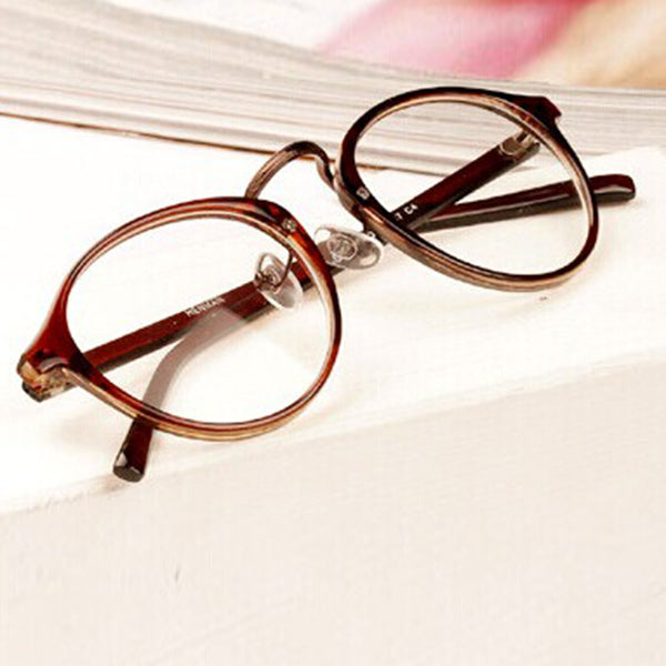 Men Women Nerd Glasses Clear Lens Eyewear Unisex Retro Eyeglasses Spectacles Sunglasses-novahe