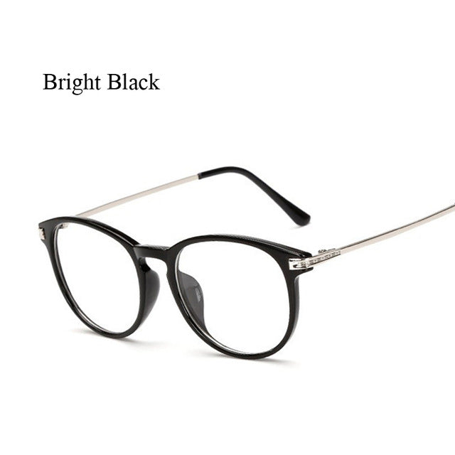 Women men Round Glasses frame Female Brand Designer gafas De Sol Spectacle Plain Glasses Gafas eyeglasses eyewear for women men-novahe