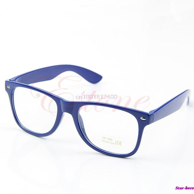 Fashion Glasses Cool Unisex Clear Lens Nerd Geek Glasses Eyewear For Men Women-novahe