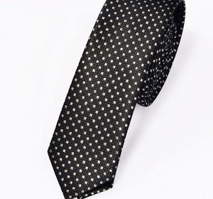 New Men's casual slim ties Classic polyester woven party Neckties Fashion Plaid dots Man Tie for wedding Business Male tie-novahe