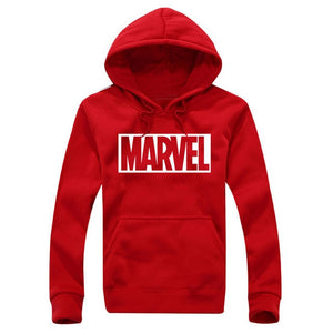 2017 New Marvel Letter Print Black Sweatshirt Men Hoodies Fashion Solid Hoody Men Pullover Men's Tracksuits male coats-novahe