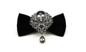 finest neckwear evening party wedding bow tie diamond butterfly bowknot casual bowties boxed gift-novahe