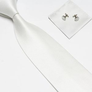 Woven Silk Necktie HandMade Mens Tie Cufflinks and Handkerchief Set Hanky Gift-novahe