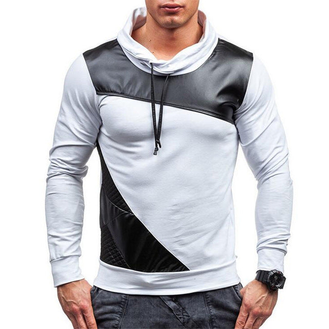 Covrlge Hoodies Men Fashion Thin Men's Hoodies and Sweatshirts Brand-clothing Casual Tracksuits Sportsuit Black Hoodie MWW042-novahe