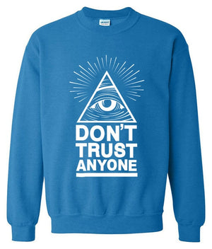 2017 hoodies men sweatshirt spring winter Dont Trust Anyone Illuminati All Seeing Eye printed fashion cool men's sportwear kpop-novahe