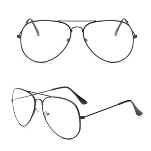 Classic Glasses Men Women Clear Lens Glasses Clear Metal Spectacle Frame Optics Myopia Eyeglasses Lunette Femme High Quality-novahe