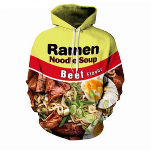 PLstar Cosmos 3D Sweatshirt Men Women Ramen Noodle Soup Print Sweatshirt Funny Pork/Chicken/Beef Hip Hop Hooded sweatshirt-novahe